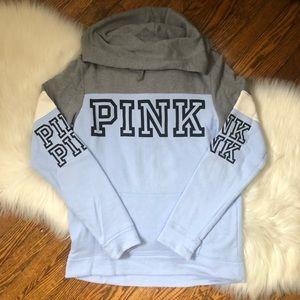 Victoria's Secret PINK Blue Logo Sweatshirt Hoodie